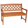 New England Crosshatch Garden Bench