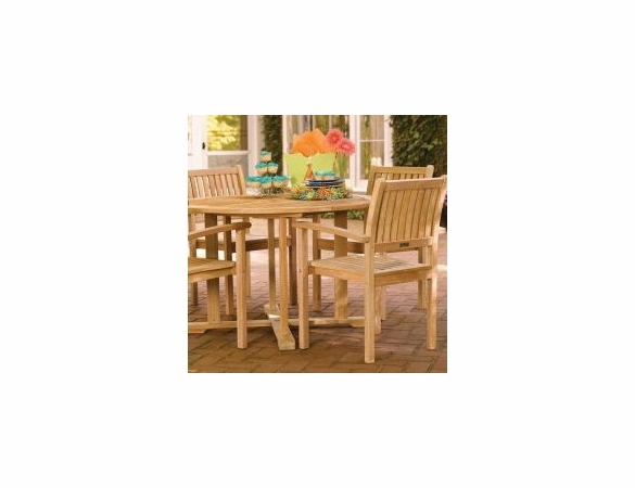 """Oxford Garden 48"""" Round Shorea Dining Table - Reduced Closeout Pricing"""