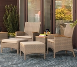 Oxford Garden 5 Pc Torbay Armchair Set