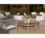 "Oxford Garden 5 Pc Travira Vintage Tekwood 48"" Chat Set  - Oct Sale Event - Ends Oct 19"