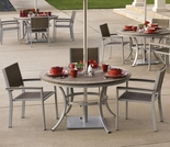 "Oxford Garden 5 Pc Travira Vintage Tekwood 48"" Dining Set - Additional Spring Discounts"