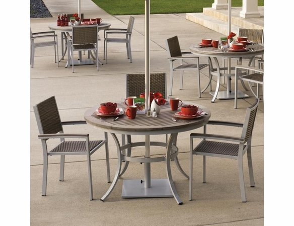 "Oxford Garden 5 Pc Travira Vintage Tekwood 48"" Dining Set - Summer Sale Event Additional Discounts"