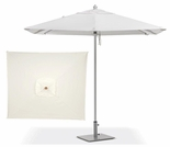 Oxford Garden 6' Square Sunbrella Market Umbrella - Aluminum Pole