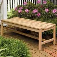 Oxford Garden Backless 2', 4' or 5' Shorea Bench - End Of Season SALE!