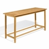 "Oxford Garden Dartmoor 78.75"" Long Shorea Bar Table - Summer Sale Event Additional Discounts"