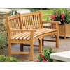 "Oxford Garden Essex Curved 83"" Shorea Garden Bench - Summer Sale Event Additional Discounts - Lasts 'til Sept 8"