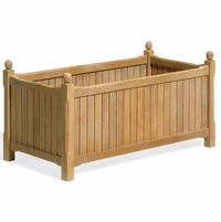 "Oxford Garden Rectangular Shorea English Planter 38"" - End Of Season SALE!"