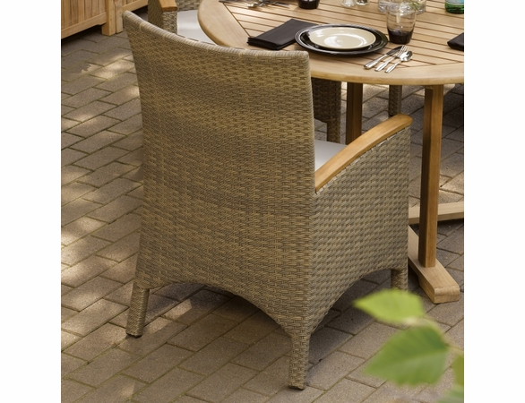 Oxford Garden Torbay Wicker Arm Chair (Set of 2) - Reduced Closeout Pricing