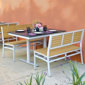 """Oxford Garden Travira 3 Piece Lite-Core Bistro Set with 34"""" x 48"""" Table - Additional Spring Discounts"""