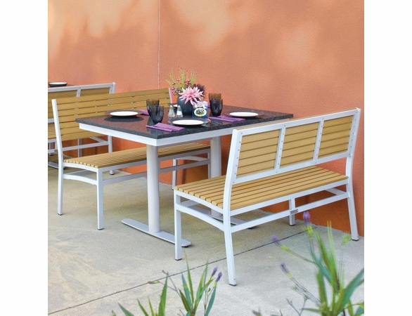 "Oxford Garden Travira 3 Piece Lite-Core Bistro Set with 34"" x 48"" Table"