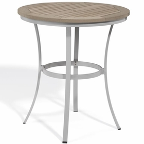 "Oxford Garden Travira 36"" Round Tekwood Top Bar Table"