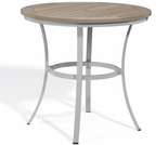 "Oxford Garden Travira 36"" Round Tekwood Top Bar Table - Additional Spring Discounts"