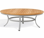 "Oxford Garden Travira 48"" Round Teak Chat Table"