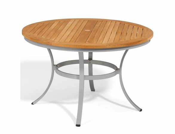 """Oxford Garden Travira 48"""" Round Teak Top Dining Table - Reduced Closeout Pricing"""