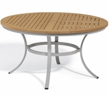 "Oxford Garden Travira 48"" Round Tekwood Top Dining Table - Additional Spring Discounts"