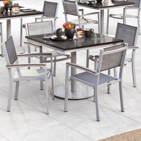 """Oxford Garden Travira 5 Piece Bistro Set with 36"""" Square Table - Additional Spring Discounts"""