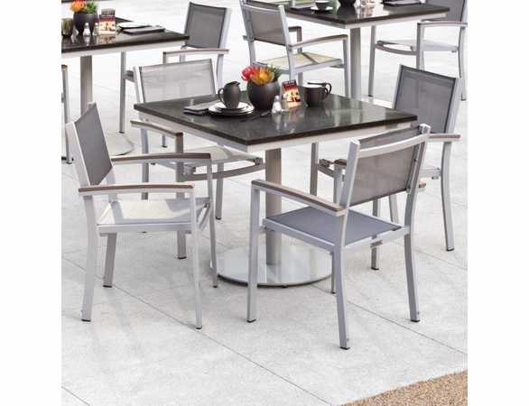 """Oxford Garden Travira 5 Piece Bistro Set with 36"""" Square Table - Summer Sale Event Additional Discounts"""