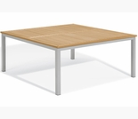 "Oxford Garden Travira 60"" Square Teak Top Dining Table - Additional Spring Discounts"