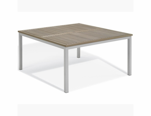 "Oxford Garden Travira 60"" Square Tekwood Top Dining Table - Summer Sale Event Additional Discounts"