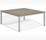 "Oxford Garden Travira 60"" Square Tekwood Top Dining Table"
