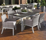 "Oxford Garden Travira 7 Piece Dining Set with 63"" x 40"" Table - Additional Spring Discounts"