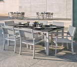 "Oxford Garden Travira 7 Piece Lite-Core Tekwood Dining Set with 63"" x 40"" Table - Additional Spring Discounts"