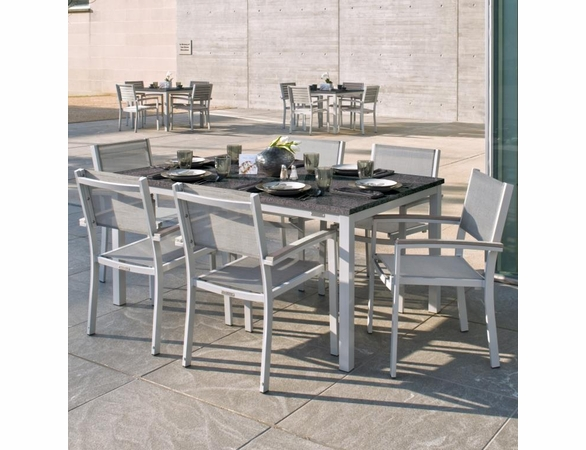 """Oxford Garden Travira 7 Piece Lite-Core Tekwood Dining Set with 63"""" x 40"""" Table - Summer Sale Event Additional Discounts"""