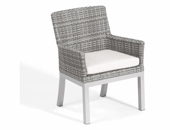 Oxford Garden Travira Argento Resin Wicker Armchair - Set of 2
