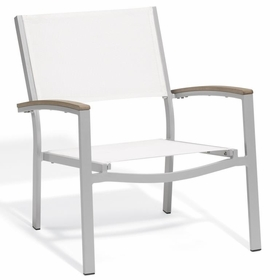 Oxford Garden Travira Chat Chair w/ Tekwood Armcap (Set of 2) - Sling Color Options - Additional Spring Discounts