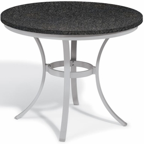 "Oxford Garden Travira Round Cafe Granite Lite-Core Top Table - 36"" Dia - Additional Spring Discounts"