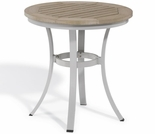 "Oxford Garden Travira Round Cafe Tekwood Round Top Bistro Table - 24"" or 36"" Dia - Additional Spring Discounts"