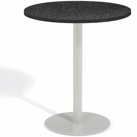 "Oxford Garden Travira Round Granite Lite-Core Top Bar Table - 36"" Dia"