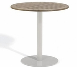 "Oxford Garden Travira Round Tekwood Top Bar Table - 24"", 32"" or 36"" Dia - Additional Spring Discounts"