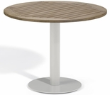 "Oxford Garden Travira Round Tekwood Top Bistro Table - 24"", 32"" or 36"" Dia - Additional Spring Discounts"