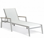 Oxford Garden Travira Sling Chaise Lounge w/ Tekwood Armcaps (Set of 2) - Sling Color Options - Additional Spring Discounts