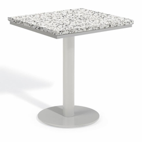 "Oxford Garden Travira Square Granite Lite-Core Top Bistro Dining Table - 24"", 32"" or 36"" Dia"