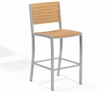 Oxford Garden Travira Teak Bar Chair - Reduced Closeout Pricing