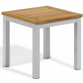 "Oxford Garden Travira Teak 18"" End Table - Reduced Closeout Pricing"