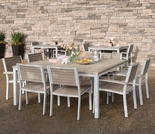 Oxford Garden Travira Tekwood 8 Seat Square Dining Set - Additional Spring Discounts