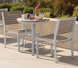 Oxford Garden Travira Tekwood Bistro Set