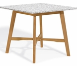 "Oxford Garden Wexford 42"" Shorea Bar Table - Granite Lite-Core"