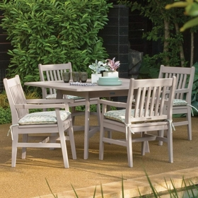 """Oxford Garden Wexford 5 Piece Dining Set with 48"""" Table and Grigio Shorea Finish - Additional Spring Discounts"""