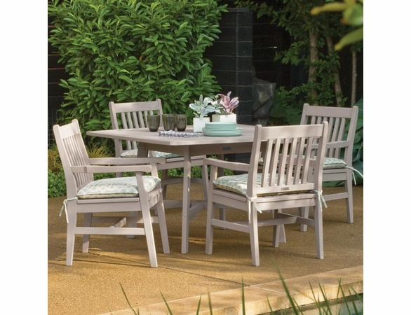 """Oxford Garden Wexford 5 Piece Dining Set with 48"""" Table and Grigio Shorea Finish"""