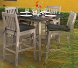 "Oxford Garden Wexford 5-Piece Lite-Core Dining Set with 42"" Bar Table - Additional Spring Discounts"