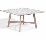 Oxford Garden Wexford Shorea Granite Lite-Core 48' Square Dining Table