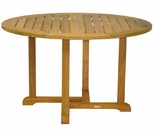 "Three Birds Oxford Teak 42"" Round Dining Table"