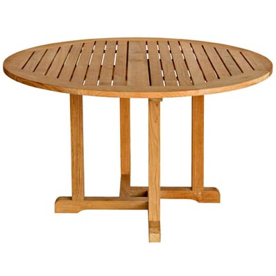 Three Birds Casual Oxford Teak 48 Quot Round Dining Table