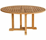 "Three Birds Oxford Teak 48"" Round Dining Table"