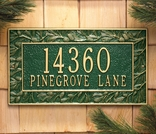 Personalized Pinecone Frame Plaque