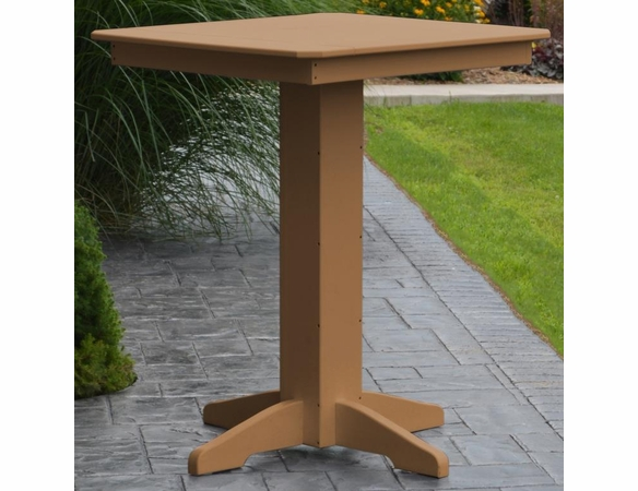 "Polyresin 33"" Square Bar Table"
